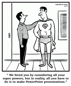 Superman Hired For Powerpoint